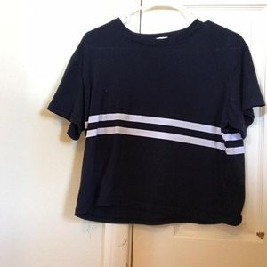 Navy blue brandy Melville T-shirt